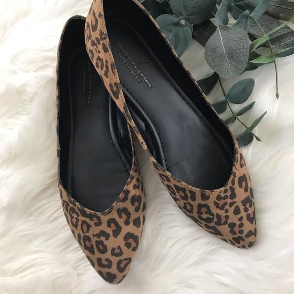 American Eagle Pointy Toe Leopard Print